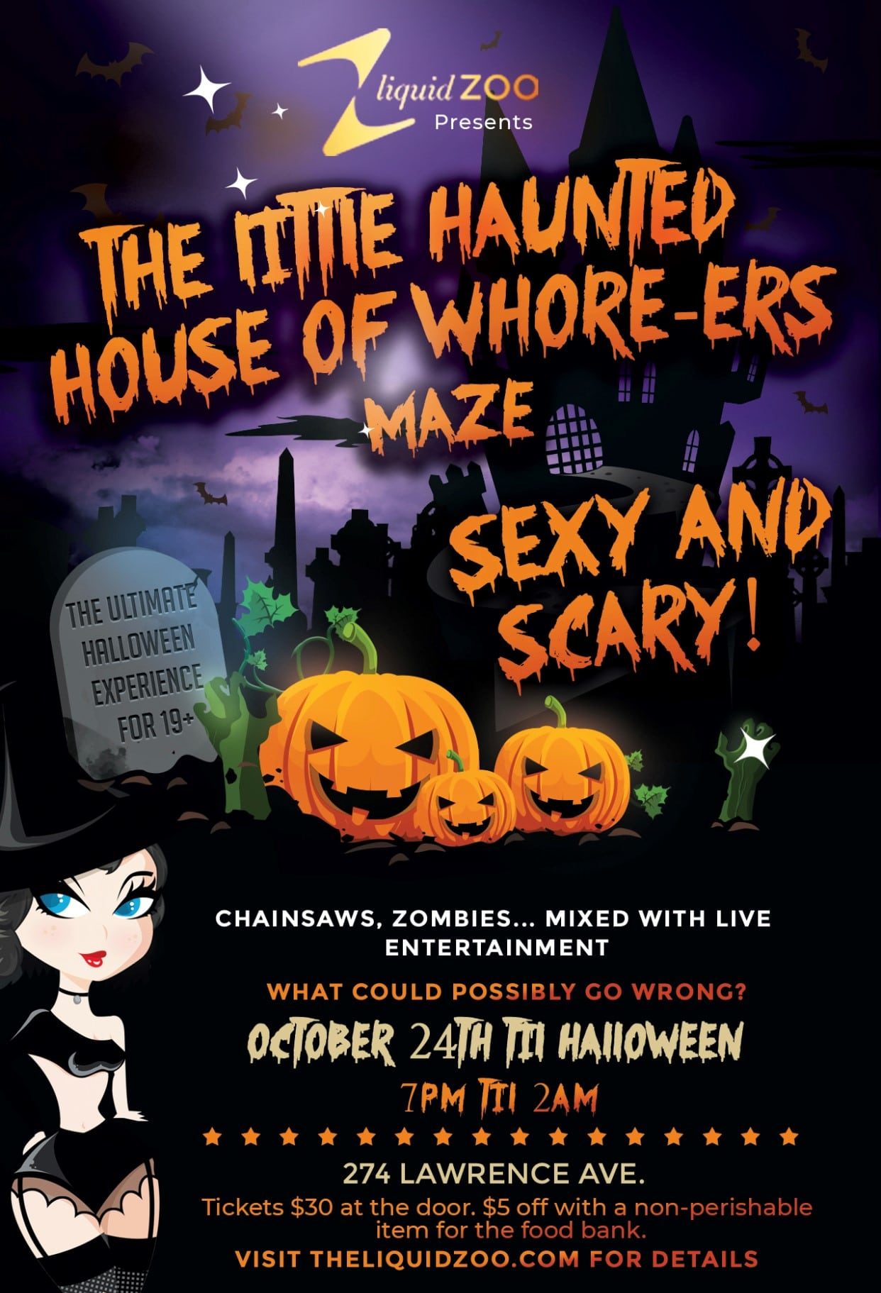 Liquid Zoo Little Haunted House Adult
